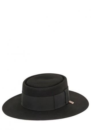 黑色羊毛紳士帽