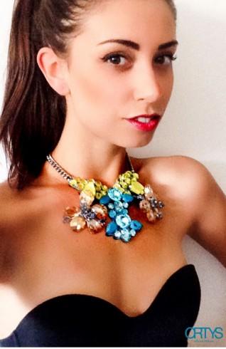 夏日花朵造型珠寶項鍊