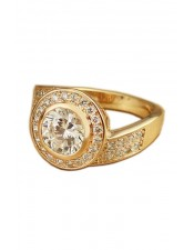 鋯石圓形珠寶造型鑽戒
