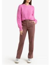 復古格紋直筒褲