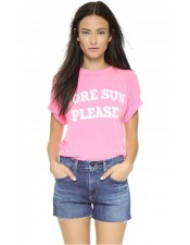 WILDFOX 'MORE SUN PLEASE' 圓領T恤