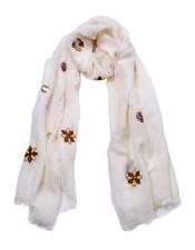 Franco Bassi手工繡花圍巾
